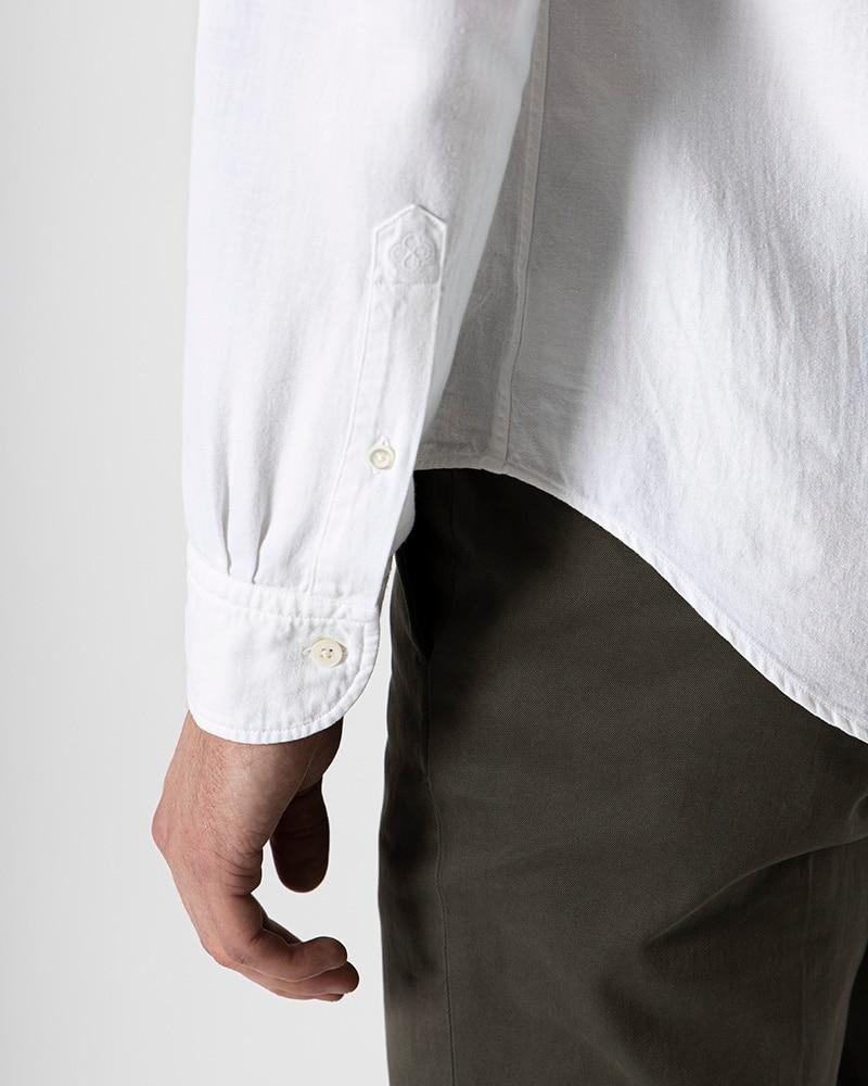 The White Denim Shirt