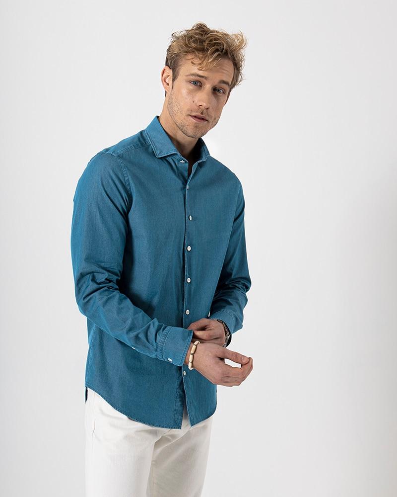 Steve Ventura Denimskjorta Tailored
